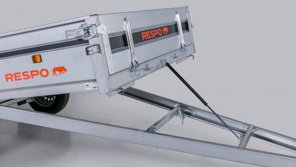 Dujinis atvertimo amortizatorius 1100N, 800mm RESPO priekaboms