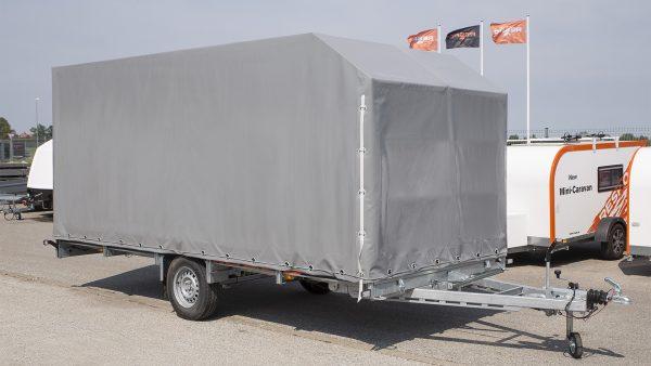 """Tentas su karkasu 4,5x2,05x2,0 Produktas suderinamas """"Respo"""" priekabomis"""