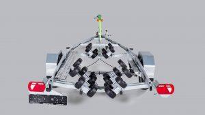 RESPO 1800 V661 Multiroller valtinė priekaba laivams iki 6,2m.